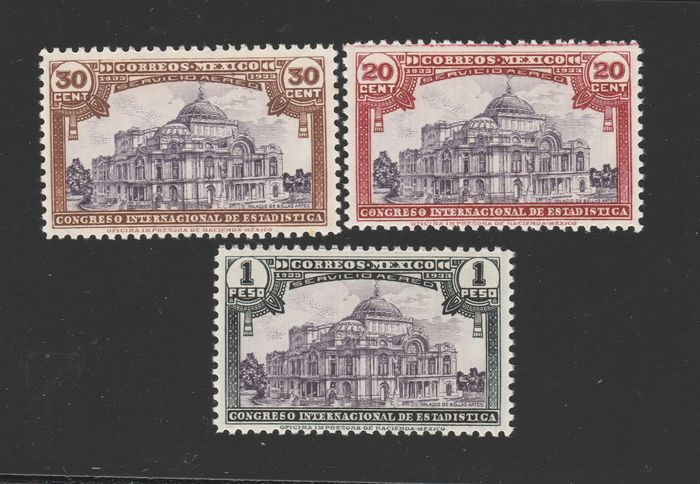 Mexiko 1933/1940 - With better series - Yvert 543 - 547 + P.A. N. 49 / 51 - 77 / 82 - 83 / 85
