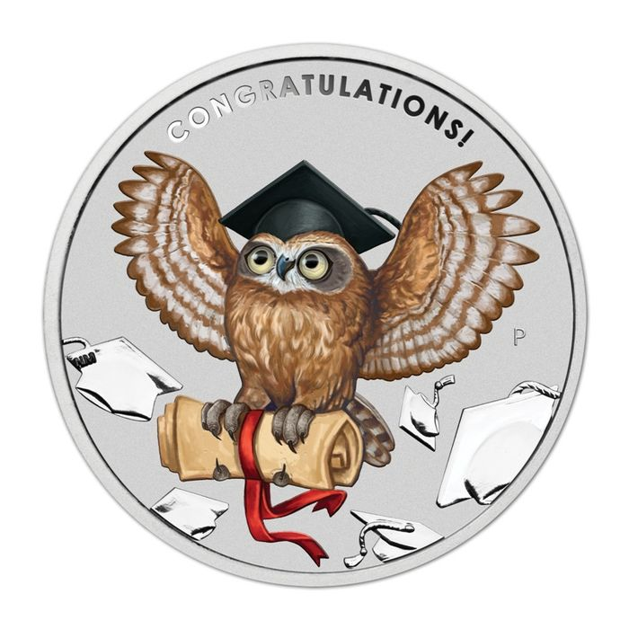Australia. 1 Dollar 2018 - Graduation - 1 oz