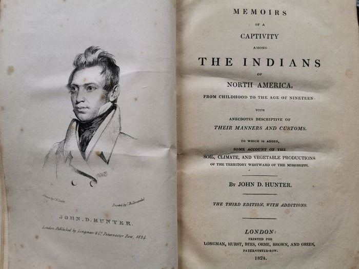 John Hunter - Memoirs of a captivity among the Indians - 1824