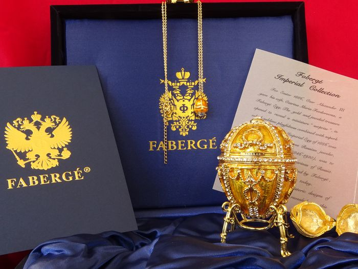 House of Faberge - Egg Imperial Collection - Finitura in oro 24 carati