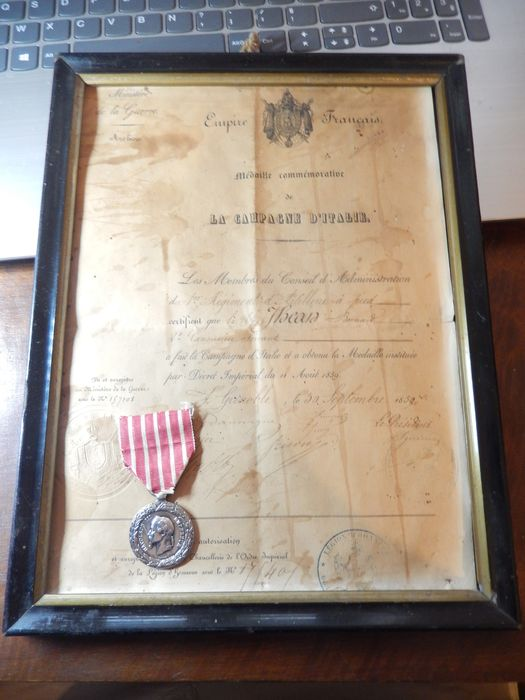 France - Army/Infantry - Napoleon III ITALY campaign medal (E15A) - 1860
