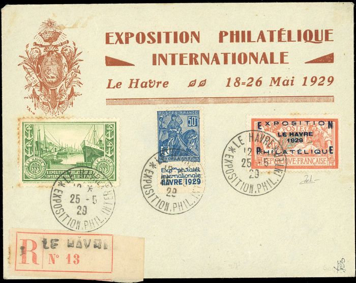 Francia - Modern France - Philatelic exhibition of Le Havre - Cancelled on letter from the exhibition - - Yvert 257A