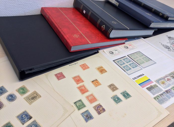 South America - various countries 5 stock books album and sheets etc.