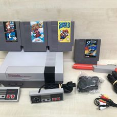 Nintendo Nes - Console with games (4) - Without original box