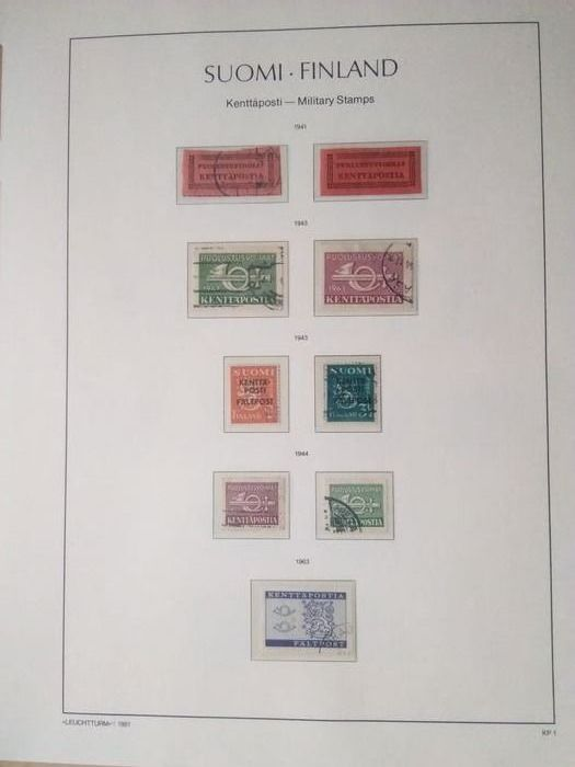 Finlandia 1920/1981 - Finland Military stamps, Parcel Post Stamps, East-Carelia and North Ingermanland - Norma 2018