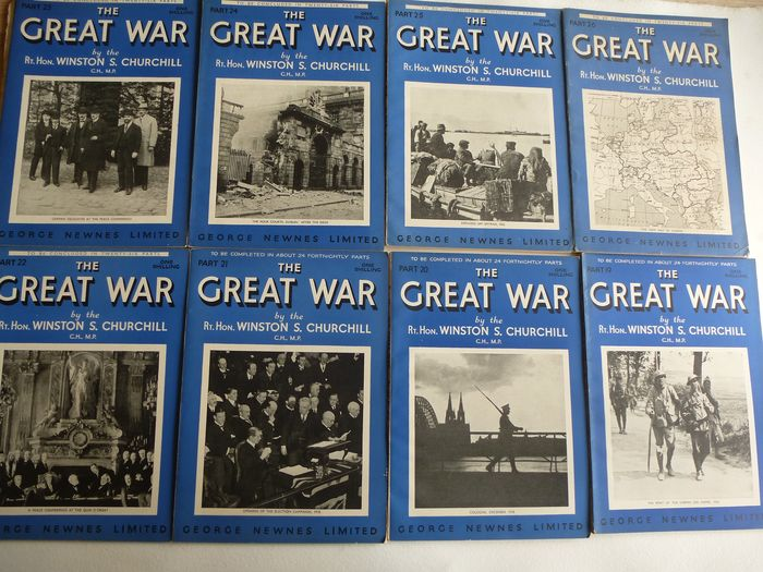 Churchill, Winston S. - The great war : Full set of 26 Individual Parts - 1933/1934
