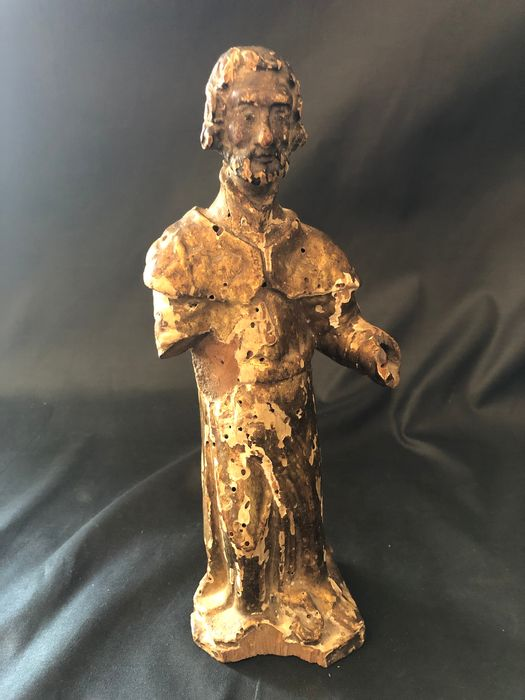 saint statuette - Wood - Early 18th century