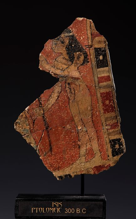 Ancient Egyptian Stucco Fragment of cartonnage - 18×12×0.5 cm - (1)