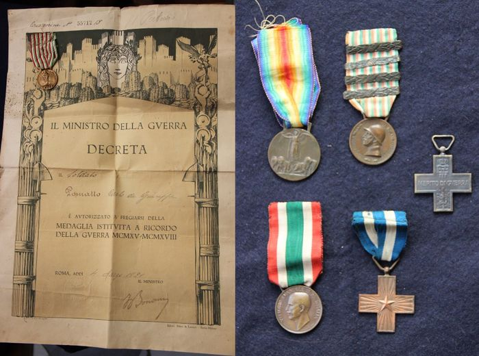 Italy - Army/Infantry - Document, Medal