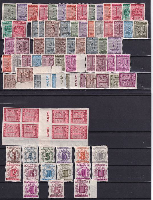 Occupation alliée - Allemagne (zone soviétique) 1945/1946 - Collection of West-Saxony collected by type and colours - Michel