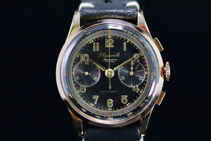 Chronographe Suisse - Plymouth Rose Gold - 15944 - Uomo - 1950-1959