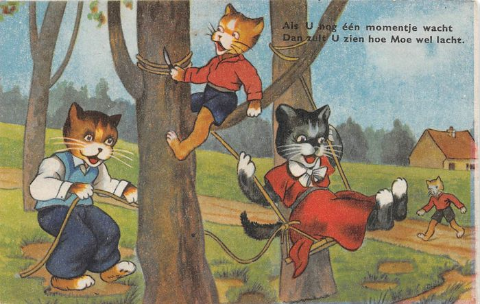 Dressed cats / cats and others - Postcards (85) - 1935
