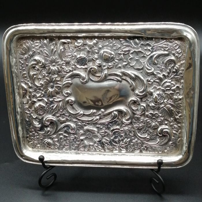 Tray, Drinks tray (1) - .925 silver - William Neale - England - Late 19th century