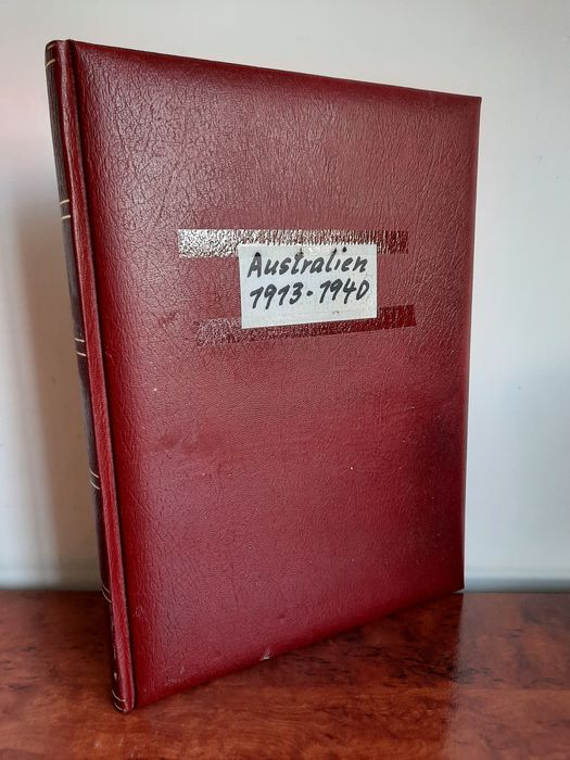 Australien 1913/1944 - Pre-war collection with specialist material in neat stock book
