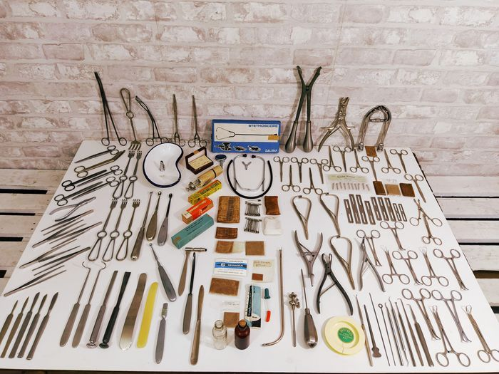 Set Medikcal Tools (511) - Glas, Legering, Messing, Plastic, Staal, Staal (roestvrij)