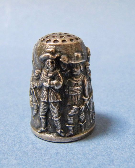 Silver Thimble - Rembrandts Nightwatch - .925 argento - Thorvald Greif - Germania - 1984