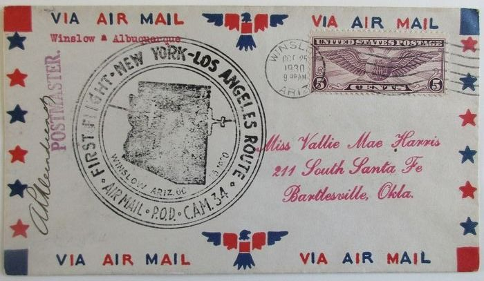 USA - First flight cover collection in an album