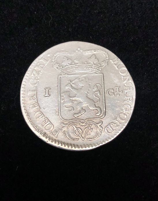 Dutch East Indies. VOC Zeeland. 1 Gulden 1791