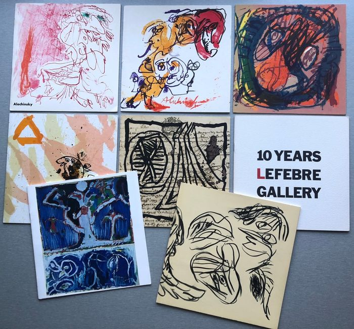 Pierre Alechinsky - 8 exhibition catalogues [with original lithographs] - 1962/1973