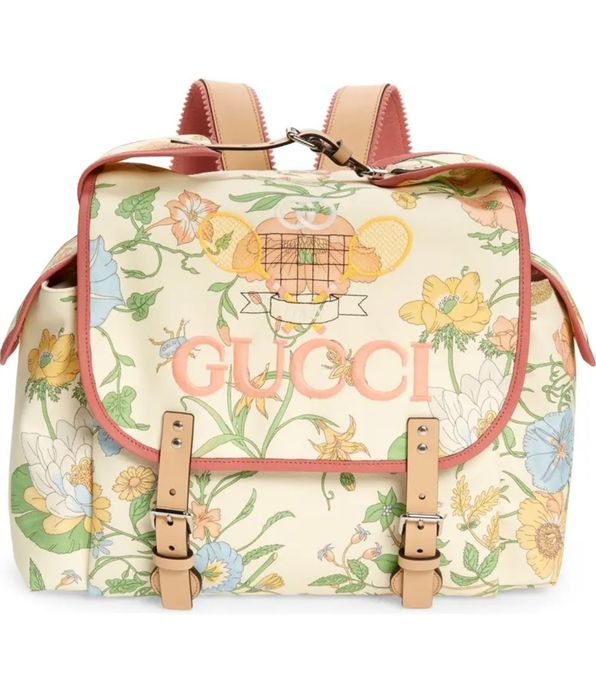 Gucci - Floral Tennis Backpack Backpack