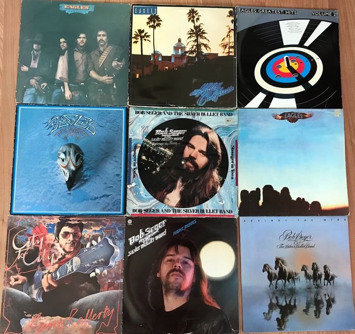 Eagles, Gerry Rafery, Bob Seger & the Silver Bullet Band - Special item: Picture disc of Bob Seger - Diverse titels - LP's, Picture disk - 1972/1982