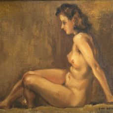 André van Ballenberghe (1895-) - Seated female nude