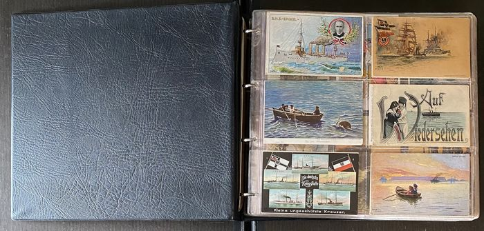 Imperial Navy 1st World War 1914/1918 - Important field post postcard collection. German Empire approx. 378 pieces
