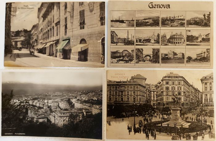 Italy - City & Landscape - Postcard album (Collection of 113) - 1900-1940