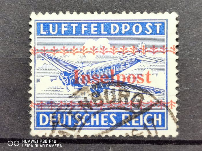 Empire allemand 1944 - Field post island of Crete with overprint, cancelled, expertised bay BPP (German Federation of - Michel 7A