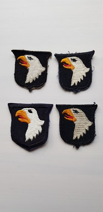 USA - Paratroops - Accessories, Lot of 4 original Arm Patches of the 101st Airborn