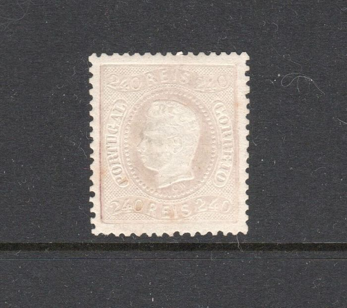 Portogallo 1867 - D. Luís I, Curved Strip, Perforated 240 Reis New. - Mundifil 35