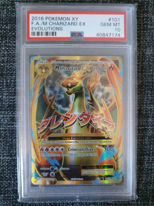 The Pokémon Company - Pokémon - Graded kaart PSA 10 Evolutions M Charizard EX Full Art (101/108) - 2016
