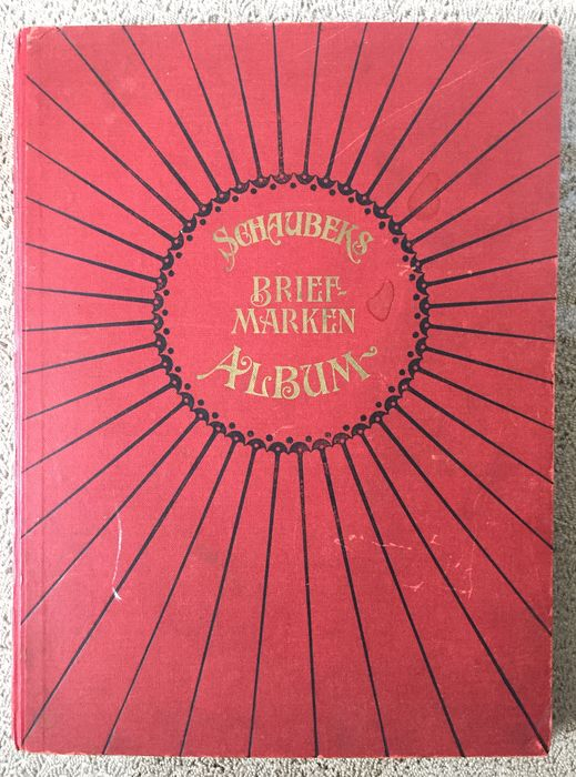 World - Schaubek´s stamp album - Old album from 1913 from an estate with interesting content.