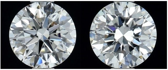 2 pcs Diamantes - 1.43 ct - Brillante, Redondo - E, F - IF (Inmaculado)