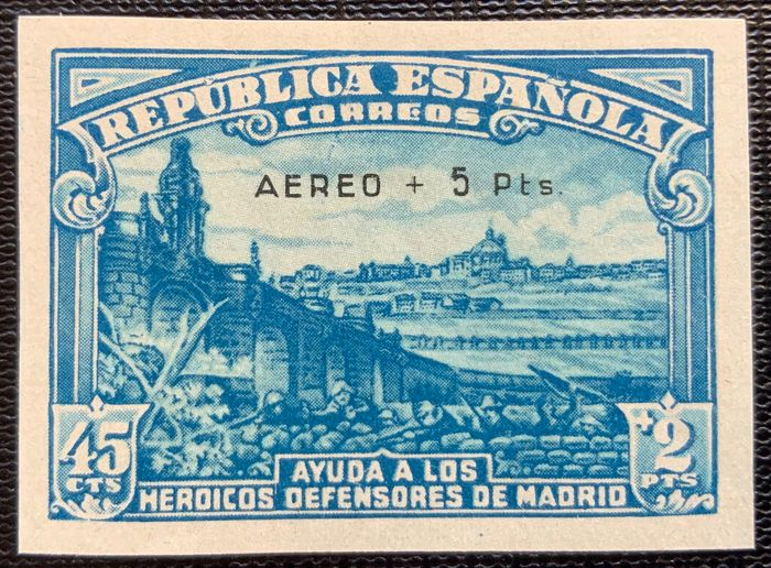 Spanje 1938 - Siege of Madrid, imperforated - Edifil 759s