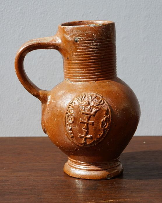 Ball belly mug with city coat of arms - Fayence