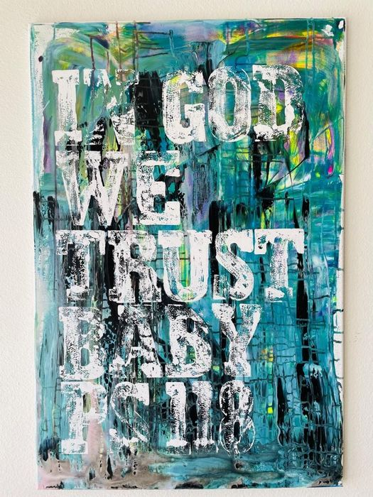 Karl Lagasse (1981) - IN GOD WE TRUST BABY PS 118 ( NO RESERVE PRICE )