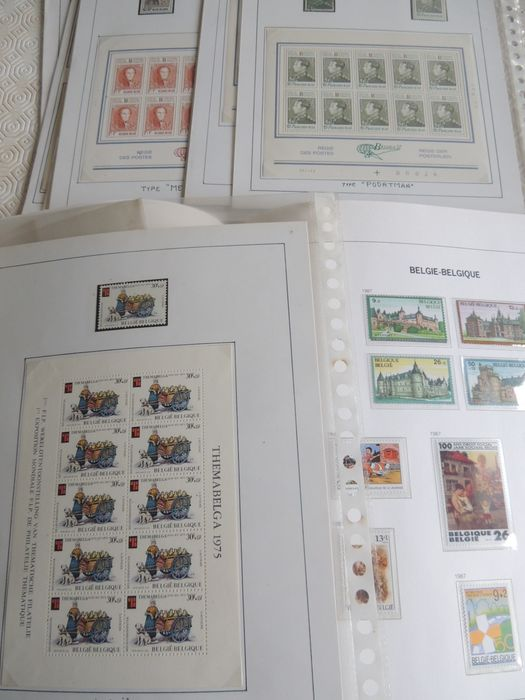 Belgien 1976/1989 - Collection in a Davo album + mini-sheetlets and miscellaneous.