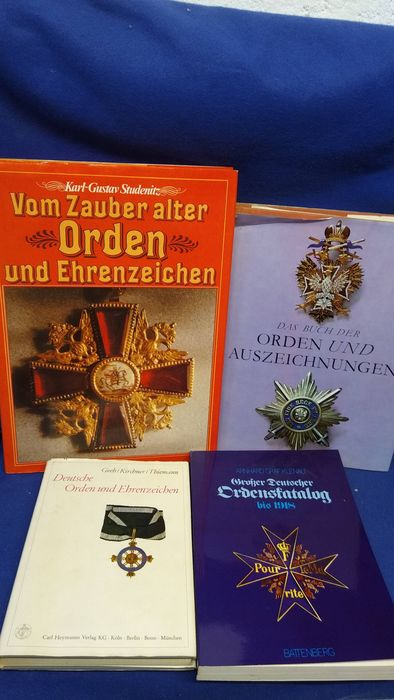 Germany - Book, Large bundle of books German medals and decorations / price catalog-many color photos - 1980