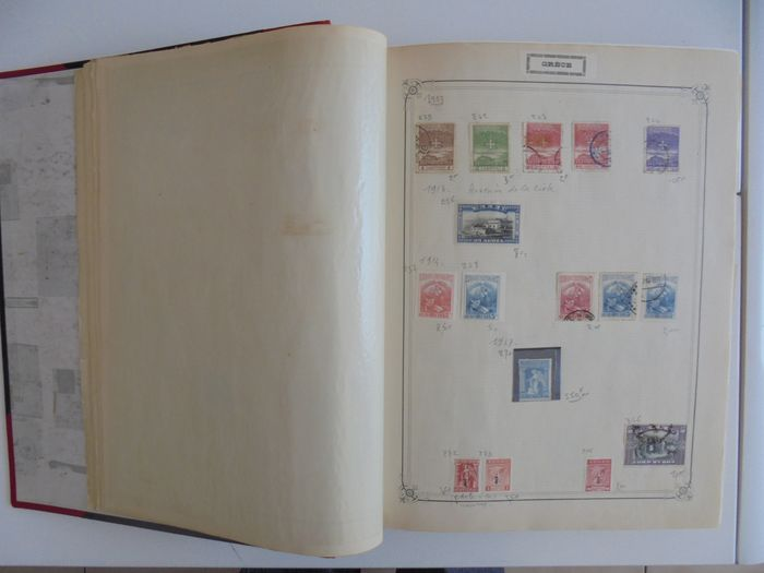 Welt 1858/1950 - A large, old Yvert & Tellier album with hundreds of stamps. - Yvert