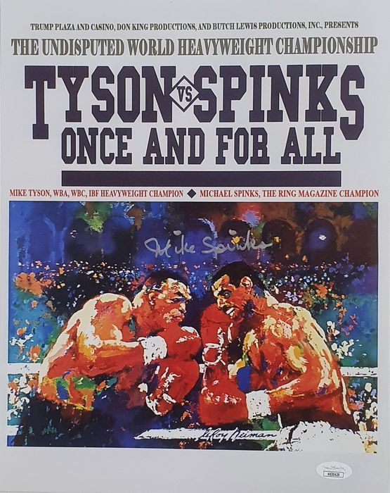 Boxing - Michael Spinks - Autograph, Poster
