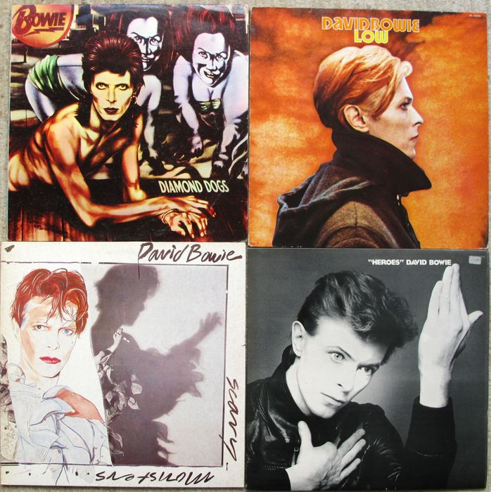 David Bowie - Diamond Dogs, Low, Heroes, Scary Monsters - Différents titres - LP's - 1974/1980