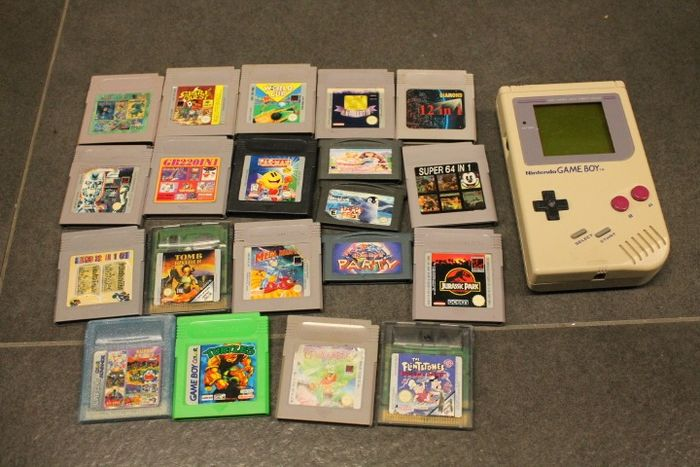 1 Nintendo - Gameboy classic with 21 games (some games for color and advance) (21) - Ilman alkuperäistä pakkauksessa