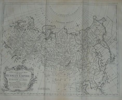 Russie; T. Osborne, T. Kitchin - A New and Accurate Map of the Whole Russian Empire (..) - 1761-1780