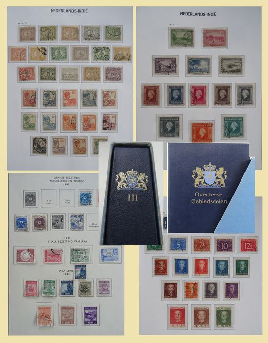 Dutch East Indies and New Guinea 1870/1962 - Collection in an old DAVO pre-printed album.