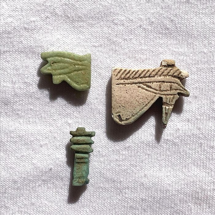 Ancient Egyptian Earthenware Amulets - (3)