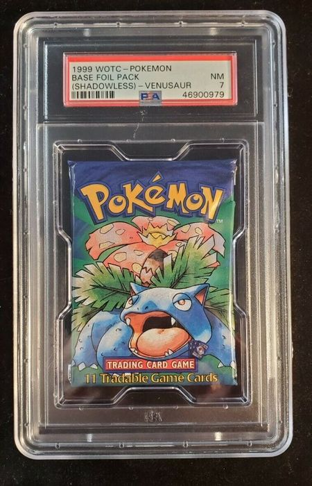 Wizards of The Coast - Pokémon - Booster Pack Venusaur Shadowless Base Set Booster - 1999