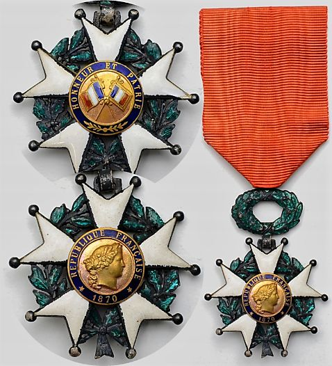 France - Army/Infantry - The national order of the Legion of honour (in French Ordre national de la Légion d'honneur) is the