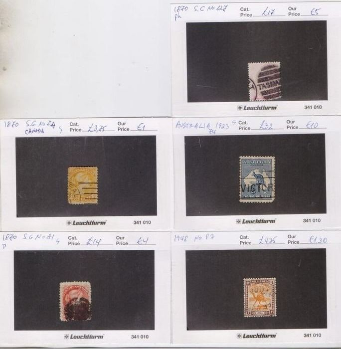 Canada 1851/1949 - British Colonies 1851-1949 37 different old used stamps