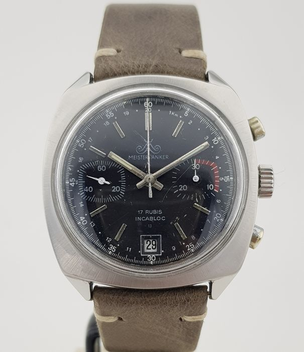 """Meister Anker - Sports Chronograph - """"NO RESERVE PRICE"""" - Heren - 1970-1979"""